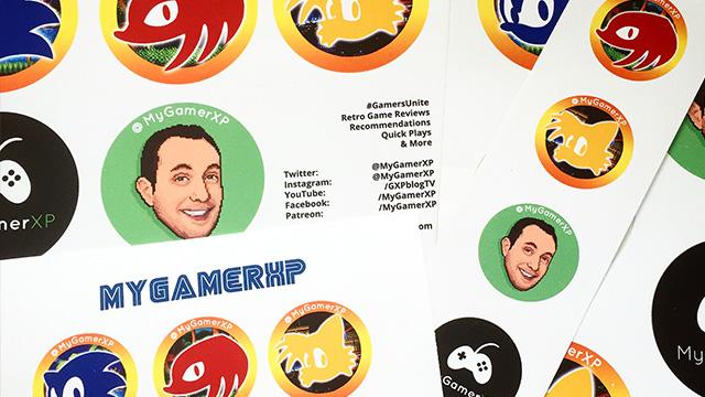 free mygamerxp stickers