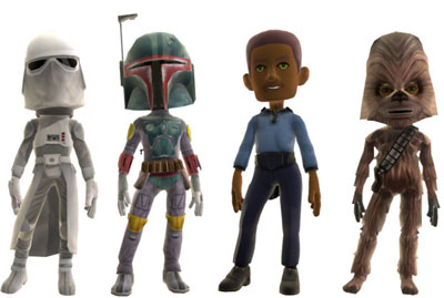 Empire Strikes Back Xbox 360 Avatar Gear